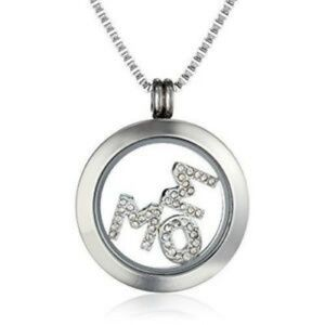 Charmed Lockets Crystal Mom Pendant Necklace